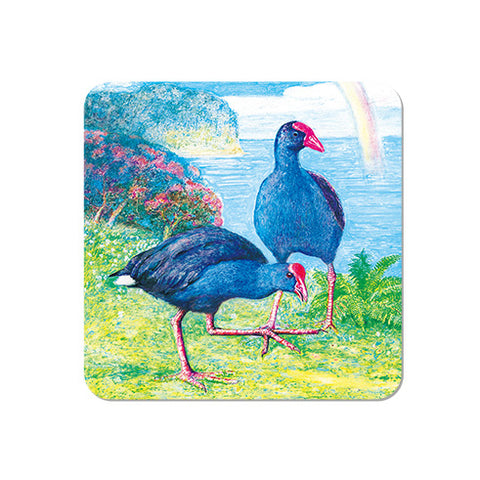 COASTER - Blue Pukeko