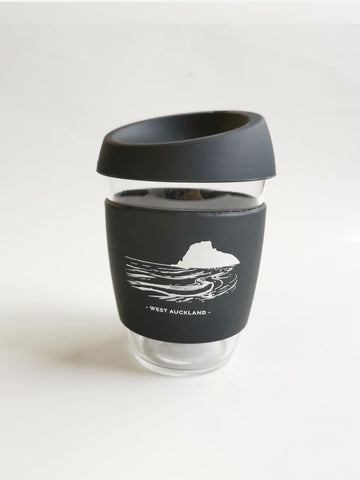 Reusable Glass Cup - Black