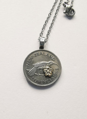 Re-minted Petite Coin Pendants - Sixpence