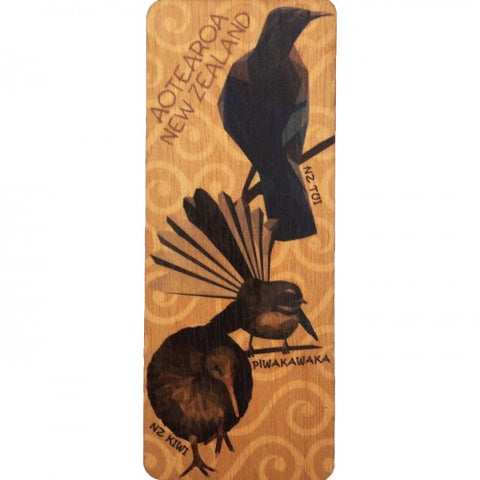NZ Made Bookmark Geo Birds
