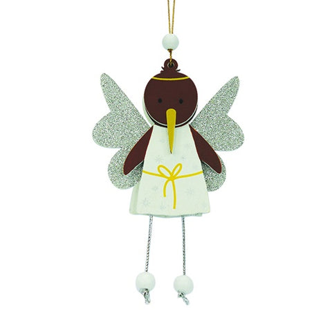 Xmas Decoration Wobbly Angel Kiwi