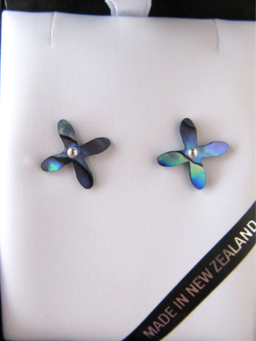 Paua tapa stud earrings
