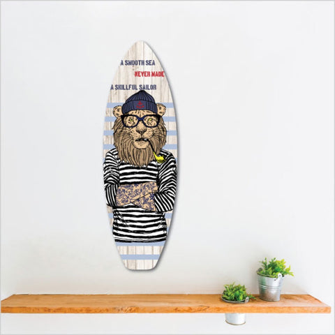 Ply Surfboard Art - Sailor Lion