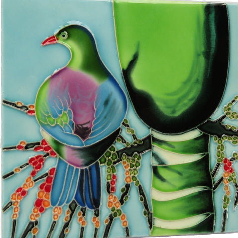 Kereru Ceramic Tile Wall Art 15x15cm