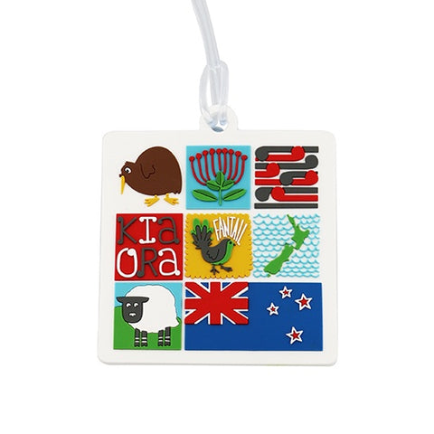 Bag Tag Kiwiana Tiles