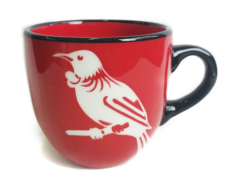 Red Tui Mug Painted Pacific pottery