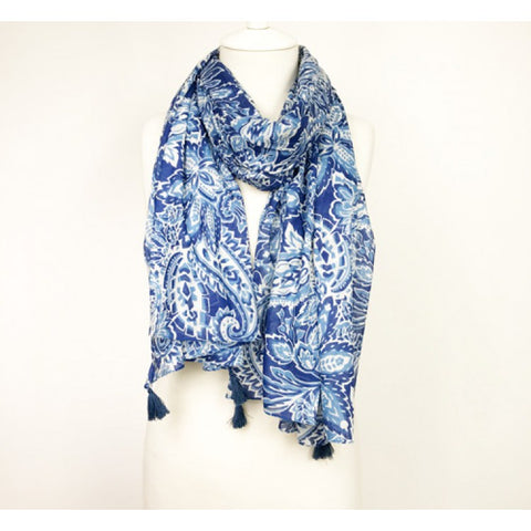 Paisley Blue Scarf