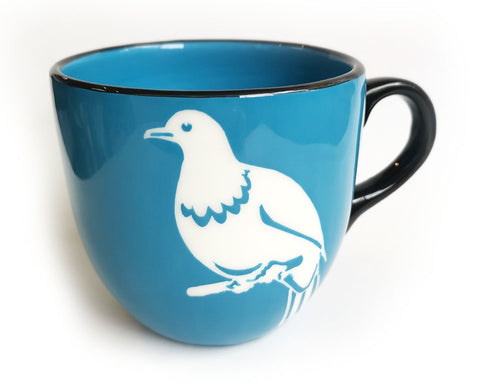 Blue Kereru Ceramic Mug NZ Made