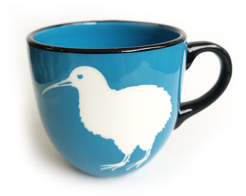 Blue Kiwi Ceramic Mug NZ Made