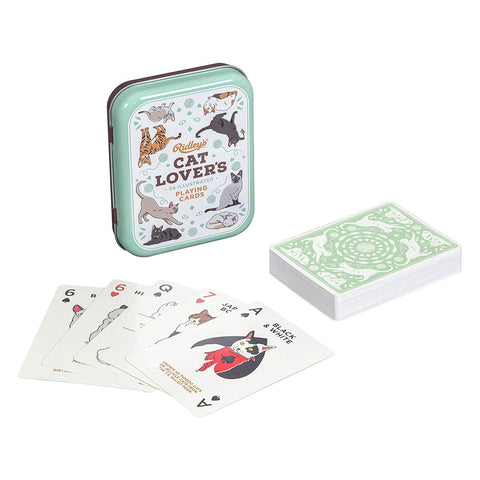 Cat Lover's 54 Illustrated Playing Cards