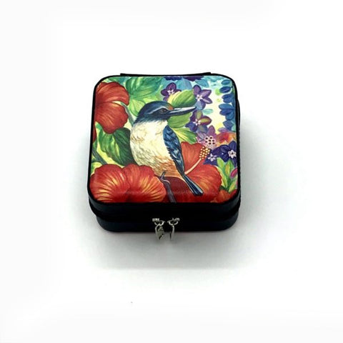 Jewellery box - Kingfisher Hibiscus