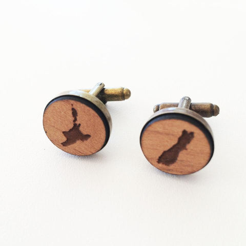 Cufflinks - NZ map