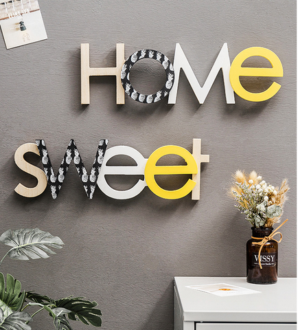 Sweet Home Wooden Wall Art