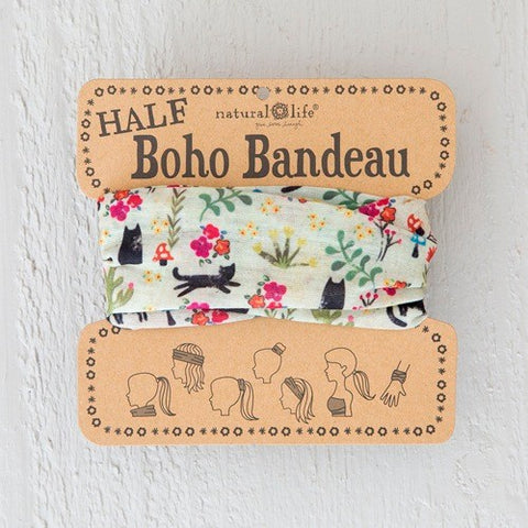 Boho Bandeau Half - Cat Cream