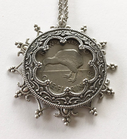 Re-minted Layered Snowflake Pendant - One Florin