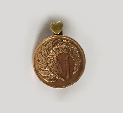 Re-minted Petite Coin Brooch - One Cent