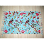 MAT Bird of Paradise chenille blue