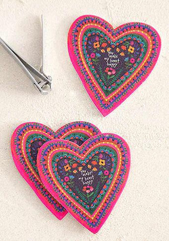 Emery Board Heart Set of 3