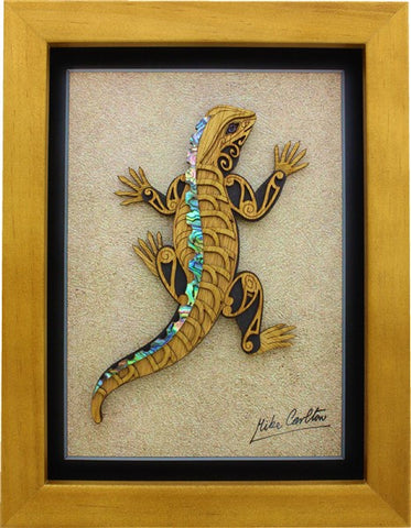 Framed Art - Large Framed Tuatara