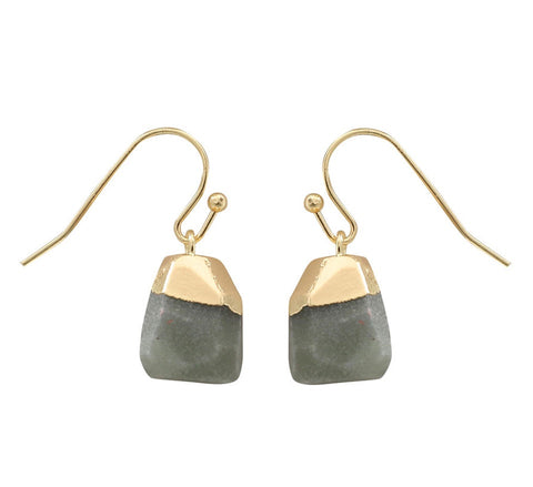 Raw Green Aventurine Earrings