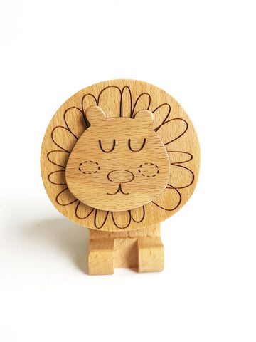 Wooden Music Box - Lion