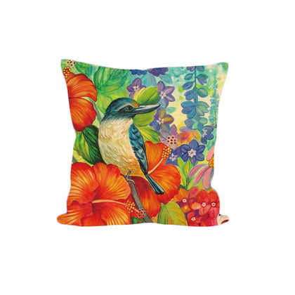 Cushion Cover - Kingfisher Hibiscus