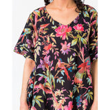 Paradise Black Kaftan clothing cotton