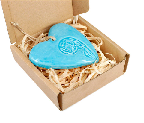 Ceramic Imprint Heart Koru