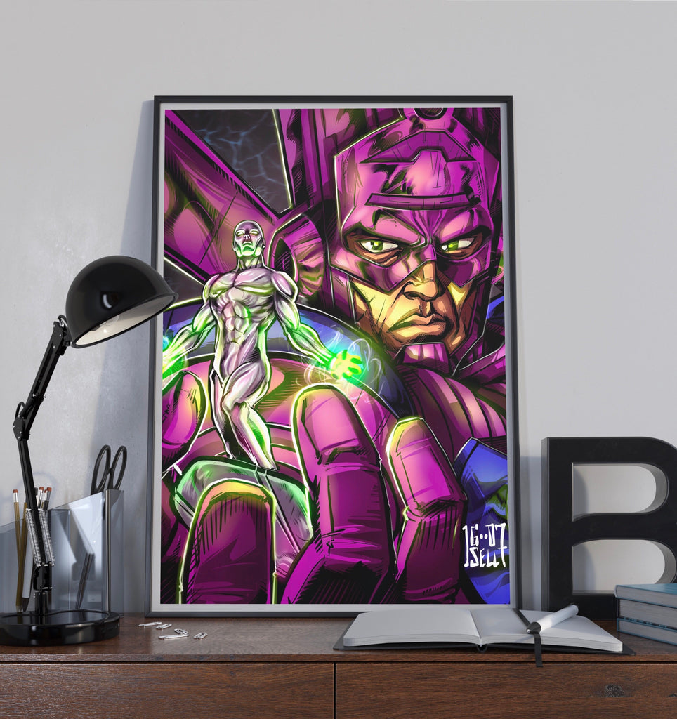 """Galactus /& Silver Surfer poster wall art home decoration photo print 24/"""" x 36/"""""""
