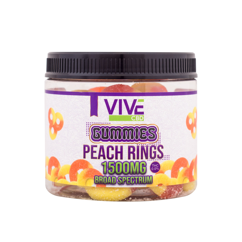CBD 0.0% THC Edible Peach Rings