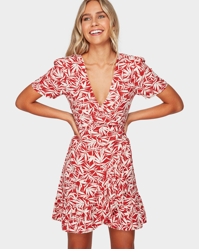 Billabong Fallen Palm Wrap Dress-Skiforce Australia