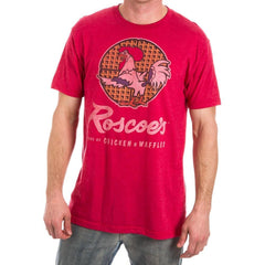 b5a1d534c Amazing shirt Discover Cool Roscoe s Chicken N Waffles Men s Red Heather T- Shirt-Small