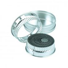 CHEF INOX CUTTER SET-SML RND CRINKLED 11pc SIZE:25-95mm - Catering Sale