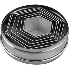 CHEF INOX CUTTER SET-HEXAGON 6pc 45-95mm - Catering Sale