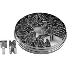 CHEF INOX CUTTER SET-ALPHABET 26pc SIZE: 25mm - Catering Sale