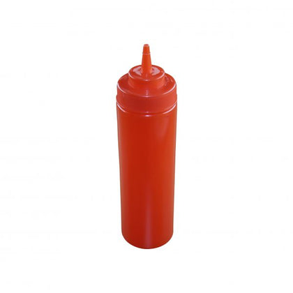 CHEF INOX SQUEEZE BOTTLE -WIDE MOUTH 720ml/24oz RED - Catering Sale