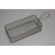 SERVING BASKET RECTANGULAR WIRE HDL 220x100x60mm - Catering Sale
