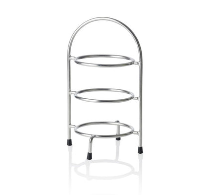 CHEF INOX ROUND DISPLAY STAND 3-TIER,155dia,185w,270hmm - Catering Sale