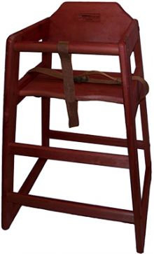 CHEF INOX HIGH CHAIR - MAHOGANY - Catering Sale
