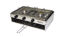 Lido Junior Marine 2 Burner Cooker + Grill, (2.75kpa), S/S, incl. Gimble + Pot Holder