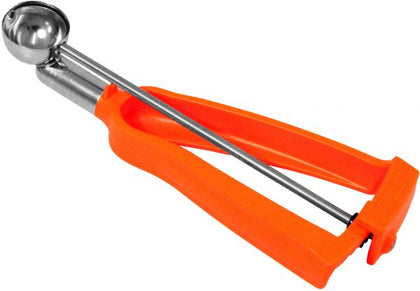 Bonzer ICE-CREAM SCOOP-No.100 ORANGE HANDLE LITEGRIP - Catering Sale