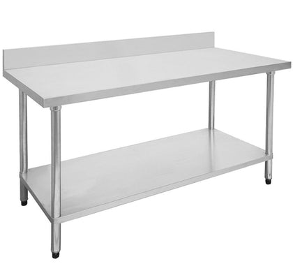 FED Economic 304 Grade Stainless Steel Table with splashback 700 Deep