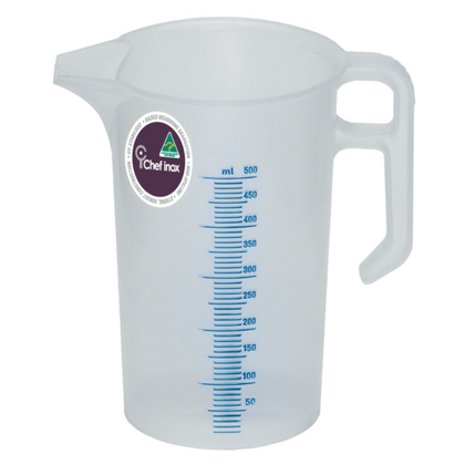 CHEF INOX BLUE SCALE PP THEMO MEASURING JUG-0.50lt - Catering Sale