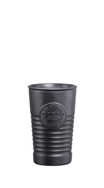 OFFICINA1825-TUMBLER METALIC BLACK 300ml (6 pcs) - Catering Sale