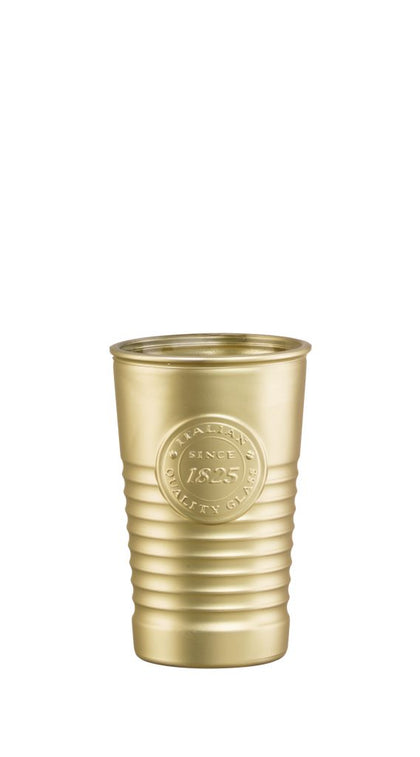OFFICINA1825-TUMBLER METALIC GOLD 300ml (6 pcs) - Catering Sale