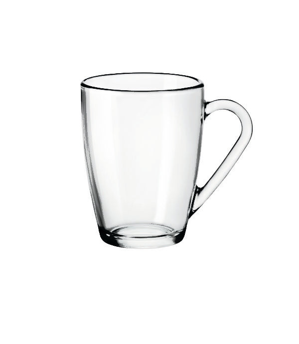 ICON-MUG CLEAR W/HANDLE 320ml (6 pcs) - Catering Sale