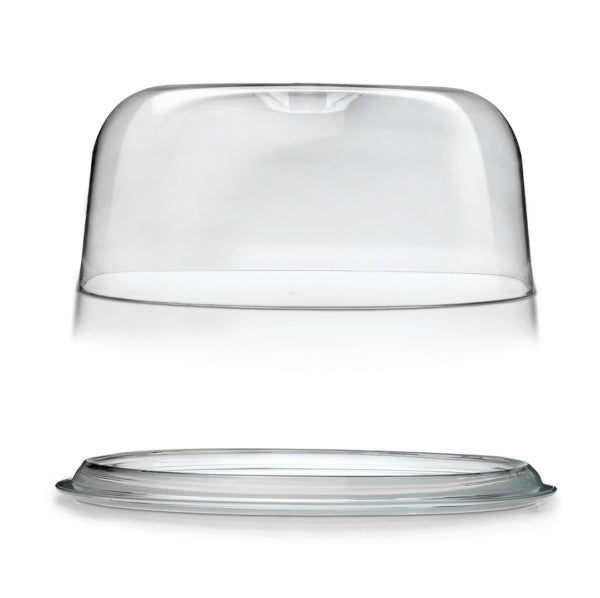 GINEVRA-SERVING PLATTER W/PLASTIC DOME 300mm - Catering Sale