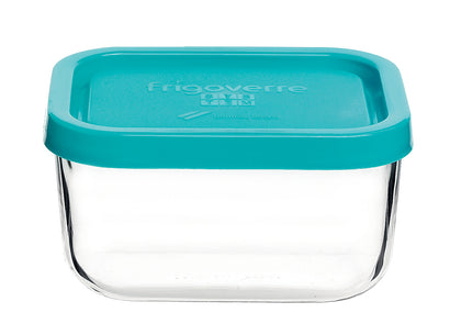 Frigoverre Glass Storage Container With Blue Lid - Catering Sale