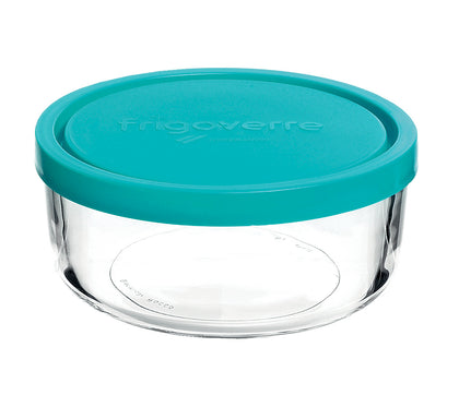 FRIGOVERRE-BLUE LID ROUND 120x52mm, 300ml (388460MA2121990) (12pcs) - Catering Sale