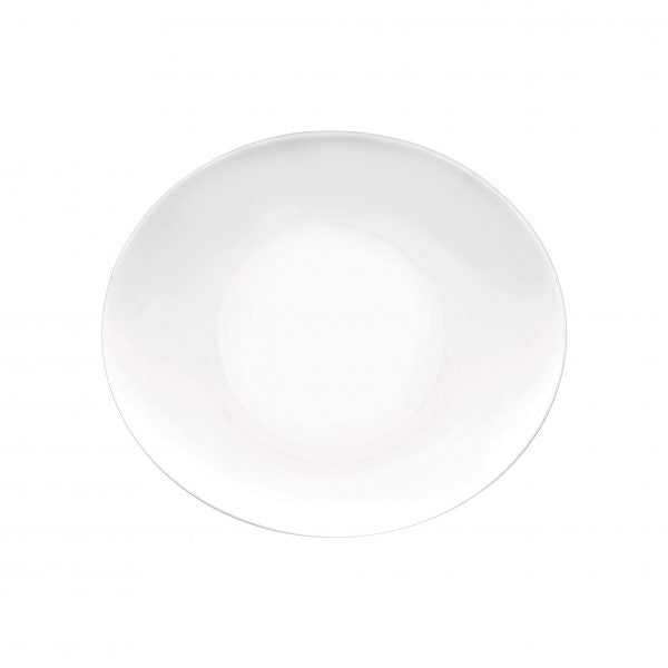 PROMETEO-OVAL PLATTER 270x240mm COUPE WHITE (24pcs)